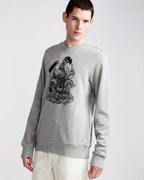0 By Hand Crew - Fleece for Men Grey N1CRB4ELP9 Element