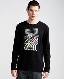 0 Pushing Dude Ls - Tee Shirt for Men Black N1LSA7ELP9 Element