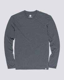 0 Basic Crew - Long Sleeve T-Shirt Grey N1LSA9ELP9 Element