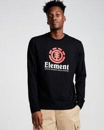 0 Vertical Ls - Tee Shirt for Men Black N1LSB1ELP9 Element