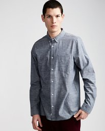0 Greene Neps Ls - Shirt for Men Blue N1SHA9ELP9 Element