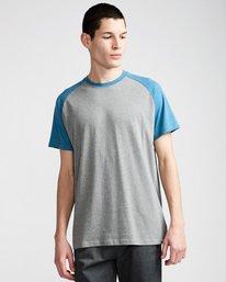 0 Basic Raglan Ss - Tee Shirt for Men Blue N1SSA2ELP9 Element