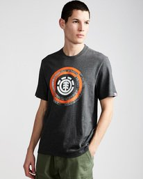 0 Iris Ss - Tee Shirt for Men Grey N1SSB2ELP9 Element