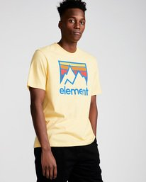0 Link Ss - Tee Shirt for Men Yellow N1SSC7ELP9 Element