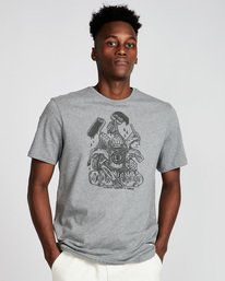 0 By Hand Ss - Tee Shirt for Men Grey N1SSE3ELP9 Element