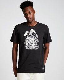 0 By Hand Ss - Tee Shirt for Men Black N1SSE3ELP9 Element