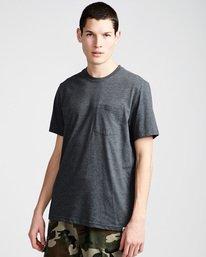 0 Basic Pocket Cr Ss - Tee Shirt for Men Grey N1SSG2ELP9 Element