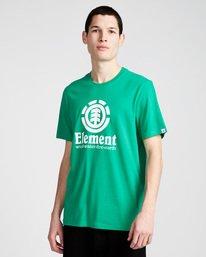 0 Vertical - Short Sleeve T-Shirt for Men Green N1SSG4ELP9 Element