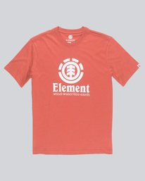 0 Vertical - Short Sleeve T-Shirt for Boys Red N2SSC8ELP9 Element