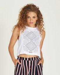 0 Random Crop Tank - Tee Shirt for Women White N3SGA1ELP9 Element
