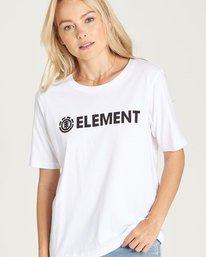 0 Element Logo Cr - Tee Shirt for Women White N3SSA1ELP9 Element