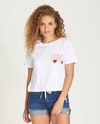 0 Love Hand Crop Ss - Tee Shirt for Women White N3SSA8ELP9 Element