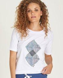 0 Abstract Cr - Tee Shirt for Women White N3SSB3ELP9 Element
