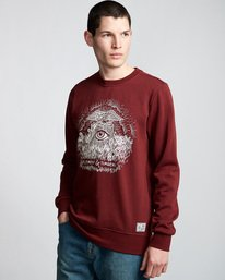 0 Too Late Stump - Sweat pour Homme Rouge Q1CRB4ELF9 Element