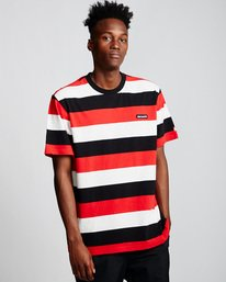 0 Primo Striped - T-Shirt Red Q1KTA1ELF9 Element