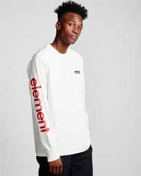0 Primo - Long Sleeve T-Shirt White Q1LSA1ELF9 Element