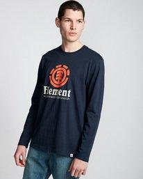 0 Vertical - T-Shirt manches longues pour Homme Bleu Q1LSA3ELF9 Element