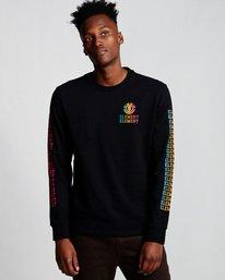 0 Drop - Long Sleeve T-Shirt Black Q1LSA6ELF9 Element