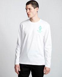 0 Ambience - Maglietta a Maniche Lunghe da Uomo White Q1LSB2ELF9 Element