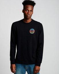 0 Seal Gradient - Long Sleeve T-Shirt Black Q1LSB3ELF9 Element