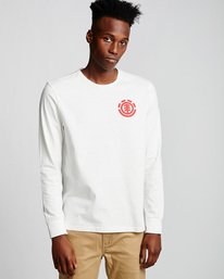 0 Unison - Long Sleeve T-Shirt White Q1LSB8ELF9 Element