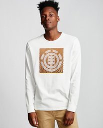 0 Dunes Icon - Long Sleeve T-Shirt White Q1LSC2ELF9 Element