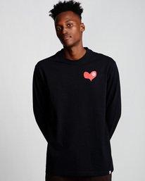 0 Barley - Long Sleeve T-Shirt Black Q1LSC6ELF9 Element