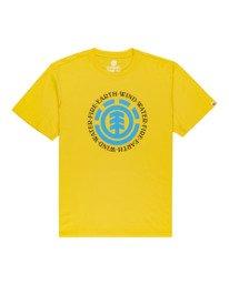 0 Seal - Maglietta a maniche corte da Uomo Yellow Q1SSA8ELF9 Element
