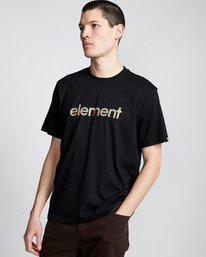 0 Eddie - T-Shirt Black Q1SSB7ELF9 Element