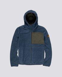 0 Windrift - Felpa con cappuccio e zip da Uomo Blue Q1WAA7ELF9 Element
