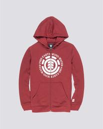 0 Seal Boy - Sudadera con capucha y cremallera para Chicos Rojo Q2ZHA2ELF9 Element