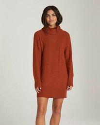 0 Delta - Robe-Pull à col roulé pour Femme Orange Q3DRA5ELF9 Element