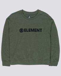 0 Logo - Felpa da Donna Green Q3FLA1ELF9 Element