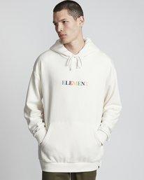 0 Big Hood Rainbow - Felpa con Cappuccio da Uomo White S1HOA6ELP0 Element