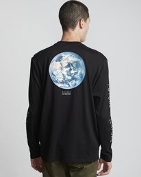 0 National Geographic Earth - Organic Cotton Long Sleeve T-Shirt for Men Black S1LSB9ELP0 Element