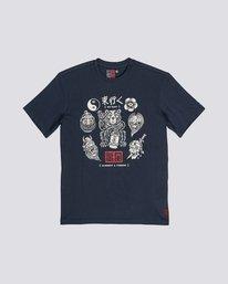 0 Timber! Go East Flash - Organic Cotton Short Sleeve T-Shirt for Men Purple S1SSD4ELP0 Element