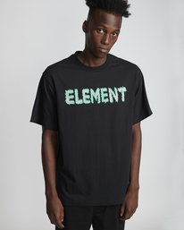 0 Tetsunori Tawaraya Lettering - Short Sleeve T-Shirt for Men Black S1SSE2ELP0 Element