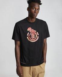 0 Wbyc - Organic Cotton Short Sleeve T-Shirt for Men Black S1SSF9ELP0 Element