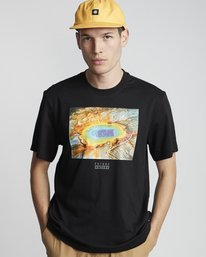 0 National Geographic Geyser - Organic Cotton Short Sleeve T-Shirt for Men Black S1SSH1ELP0 Element