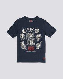 0 Flash - Organic Cotton Short Sleeve T-Shirt for Boys Purple S2SSC5ELP0 Element