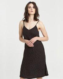 2 Roberta - Vestido con cuello en V para Mujer Negro S3DRA1ELP0 Element