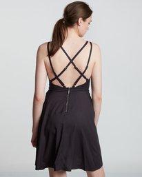 2 Heart Twill - Viskose Kleid für Damen Schwarz S3DRA2ELP0 Element