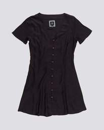 0 Sue Twill - Short Sleeve Dress for Women Black S3DRA5ELP0 Element