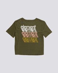 1 Branded Crop - T-Shirt aus Bio-Baumwolle für Damen Grün S3SSA4ELP0 Element
