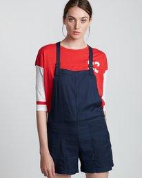 1 Dream Twill - Pantalones cortos de viscosa para Mujer Azul S3WKA8ELP0 Element