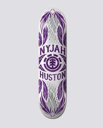 "0 8"" Nyjah Feathers Purple - Skateboard Deck  S4DCF7ELP0 Element"