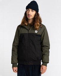 1 Wolfeboro Dulcey Two Tones - Water-Resistant Jacket for Men Black U1JKC2ELF0 Element