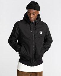 1 Wolfeboro Dulcey - Water-Resistant Jacket for Men Black U1JKF2ELF0 Element