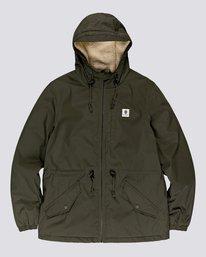 0 Wolfeboro Stark - Water-Resistant Jacket for Men Green U1JKF4ELF0 Element