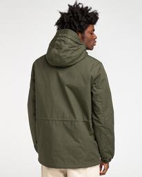 4 Wolfeboro Stark - Water-Resistant Jacket for Men Green U1JKF4ELF0 Element